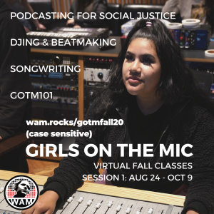 Girls on the Mic Classes Flyer